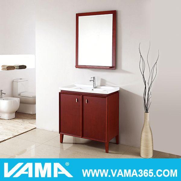 vama solid wood luxury leather modern bathroom floor cabinet buy