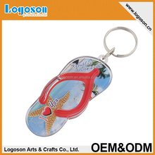 2015 plastic souvenir keyring wholesale shoe keychain manufacturers in china