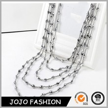 New fine Fashion trend wild bohemia ethnic beads temperament necklaces sweater chain women&girl jewelry