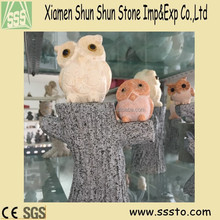 Wholesale Cute Owl Stone Carving for gift and decoration