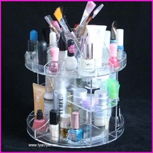 Wholesale Factory New Product Plastic Clear Rotating Cosmetics Organizer Mascara Display Nails Polish Showcase