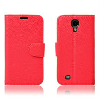 Wholesale High Quality Lichee Pattern Leather Case for Samsung Galaxy S4