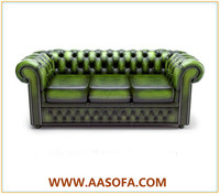 chesterfield green leather sofa guangzhou sale