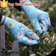 SRSAFETY 13G Knitted polyester liner coated PU multi purpose cheap working gloves,china supplier working gloves