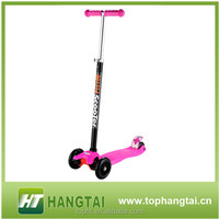 Cheap child dirt scooters 3 wheel maxi scooter with T-bar