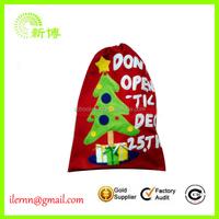 Custom cotton velvet santa claus gift shopping bags
