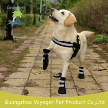 Lvoyager pet socks waterproof dog shoes reflective dog boots