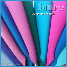 Colorful neoprene rubber and fabrics