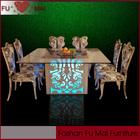 Hight gloss com madeira maciça diodo emissor de luz da tabela do casamento / banquete