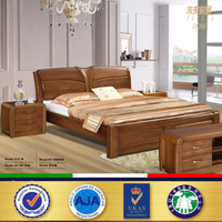 New Design Classical Fashion King teak wood modern bed designs
