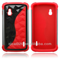 PC Plus Silicon Case With Rhomb For LG L9/P760