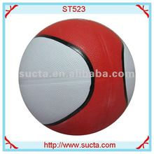 Dual color great quality rubber basketball balls ST523