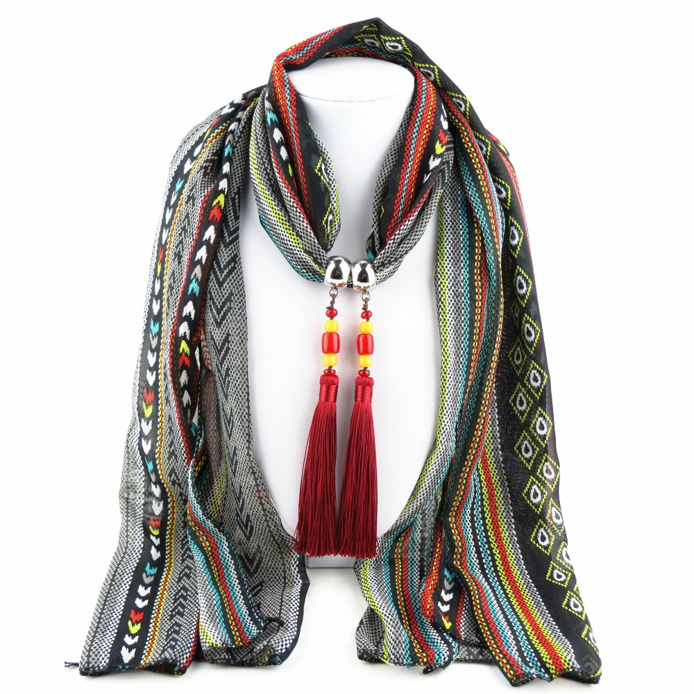2016 latest fashion peacock design pendant scarf alloy jewelry scarf polyester alloy pendant scarves 13g aloadofball Image collections