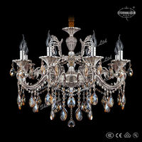 New silver cast aluminum crystal lightings for Asia ETL84223