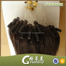 hot selling blonde curly hair extensions kinky curly micro loop hair extension