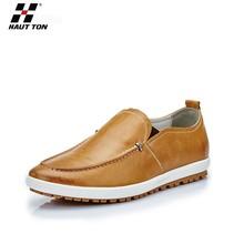 XS13 Hautton 2015 wholesale new products soft flat men summer shoes leather