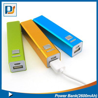 Portable 2600mAh Power Bank External Battery Charger Powered Backup Pack for Mobile Phone, iPhone and Most USB Devices