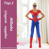 red dark blue adult professional spiderman costume for woman