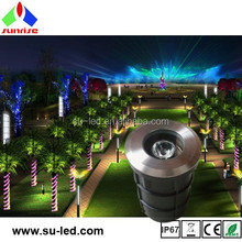 IP67 outdoor backlighting LED ground lights 3W