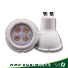 Dimmable 45 degree beam angle led bulb 4X1W low power consumption High brightness GU10 led spot light, 4x1 watt led spot light