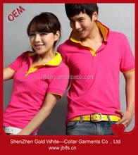 custom 100% cotton couple polo t shirt