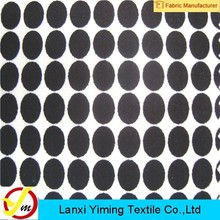 2015 Shaoxing Textile Fabric Latest Dress Designs Fabric Cotton Polka Dot