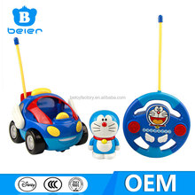 Wholesale interesting radio control cars for kid, RC car toys with Doraemon figure