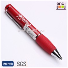 Branded LOGO customized metal ball pens with rubeer grip and super fat designed for promotion
