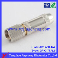 L9 male crimp straight connector for RG179 cable