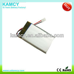 2015 hot sale factory price 503450 053450 3.7V 1000mAh lithium polymer battery li-polymer battery lipo battery akku
