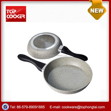 Aluminum marble coating cooking frying pans