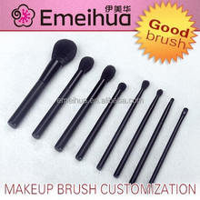 8pcs new black personalized ladies fashion beauty tools makeup brushes