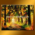 venta al por mayor hecha a mano decoración del arte del paisaje pintura al óleo de regalos