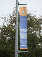 hot sales large size printing fabric street banner