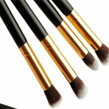 Beauty accessories Gold ferrule eyeshadow brush set, Private logo makeup eye shadow brush set , Synthetic hair eye shadow brush