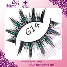 Fashion ! Exaggerated Diamond False Eye Lashes