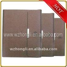 Magnetic closed pu/leather nootbook/agenda