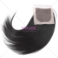 "Cheap 4""x 4"" brazilian hair silk base lace closure natural straight"