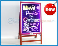 ZD waterproof IPX6 led advertising black light dry erase board with satnd