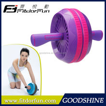 Feva Roller-Fashionable Creative Multicolored High Impact ABS Adjustable Double Fitness Equipment Ab Roller as seen on TV