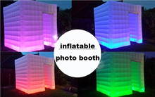 2014 best popular lighting inflatable photo booth with led