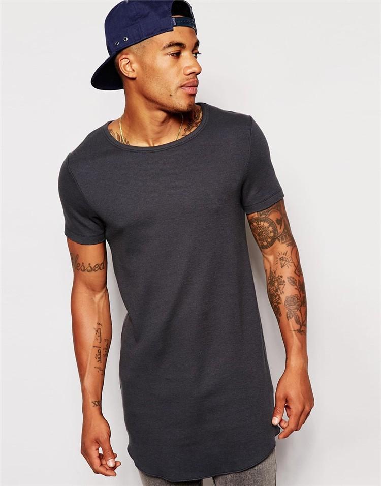tight fit long men t shirts grey color t shirts crossfit t. Black Bedroom Furniture Sets. Home Design Ideas