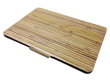 custom embossed pc/tpu bamboo wood case for ipad 234 case