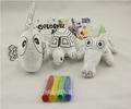 Educacional crianças pintura presente no tecido brinquedos de pelúcia