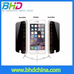 Mobile phone accessories factory in china 3m for iphone 6/5s anit-spy privacy tempered glass screen protector