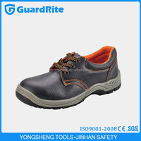 GuardRite Brand Best-selling Black Embossed Leather Non-metal Sport Safety Shoes With Steel Toe Cap