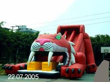 inflatable tiger slides, water slides, inflatable Dry slide
