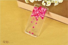 Dry pressed natural real flower cell phone accessory for iPhone5c case glitter handmade gift transparant resin flower