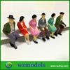 Diecast Type Seated Figure 1/30 scale Sitting Posture Design Model Passenger Action figure