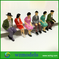 Diecast Type Seated Figure 1/30 scale Sitting Posture Design Model Passenger Action figure